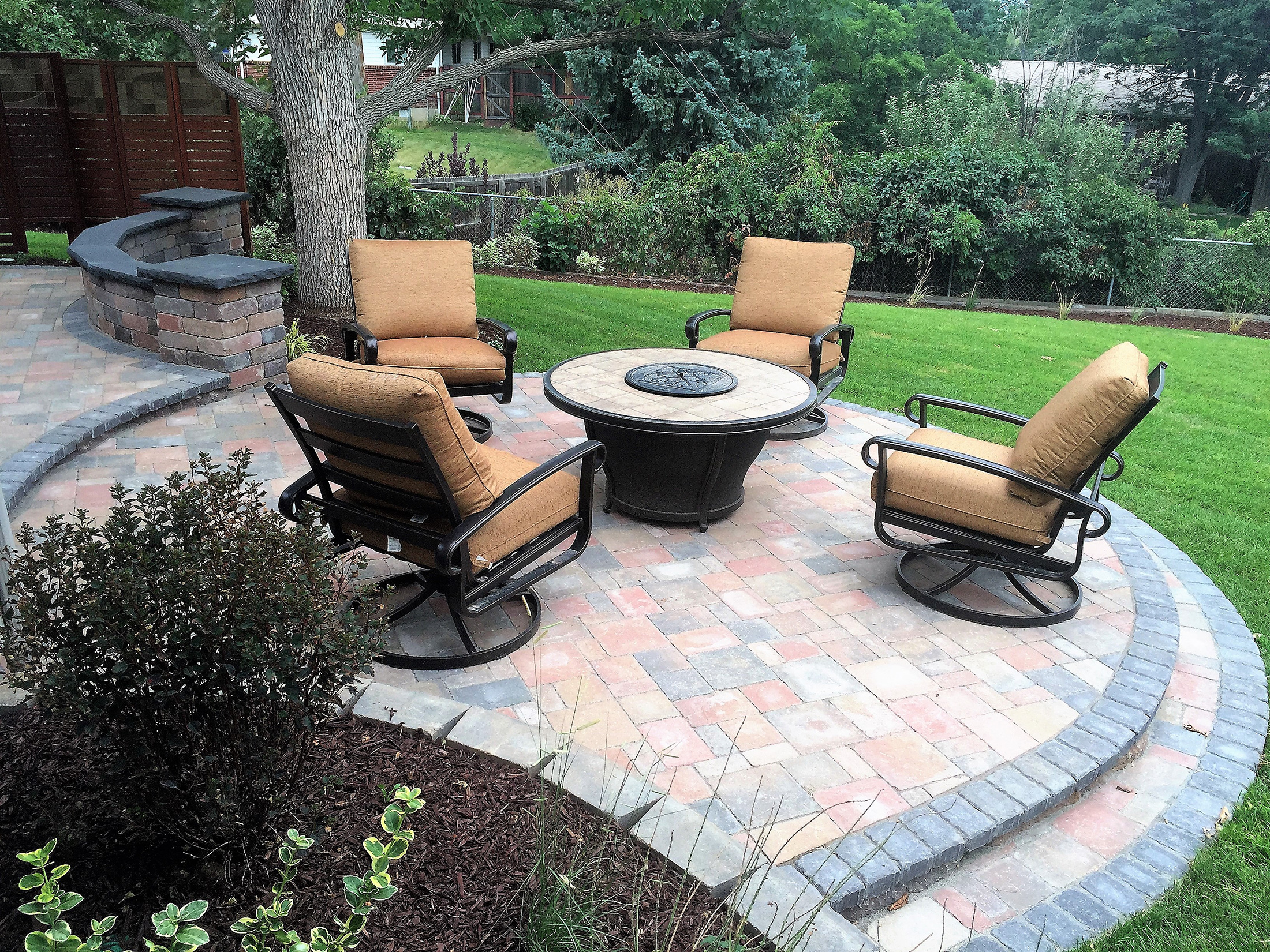 Colorado Patio with Fire Feature