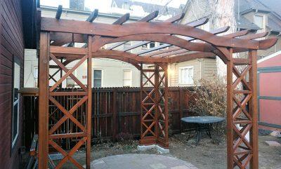 Wood Pergola Backyard