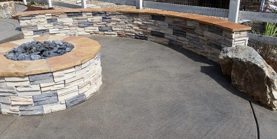 Firepit with Wall