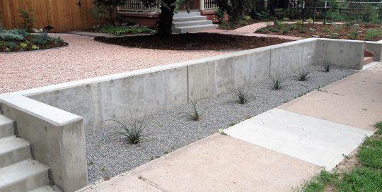 Concrete Landscape Wall